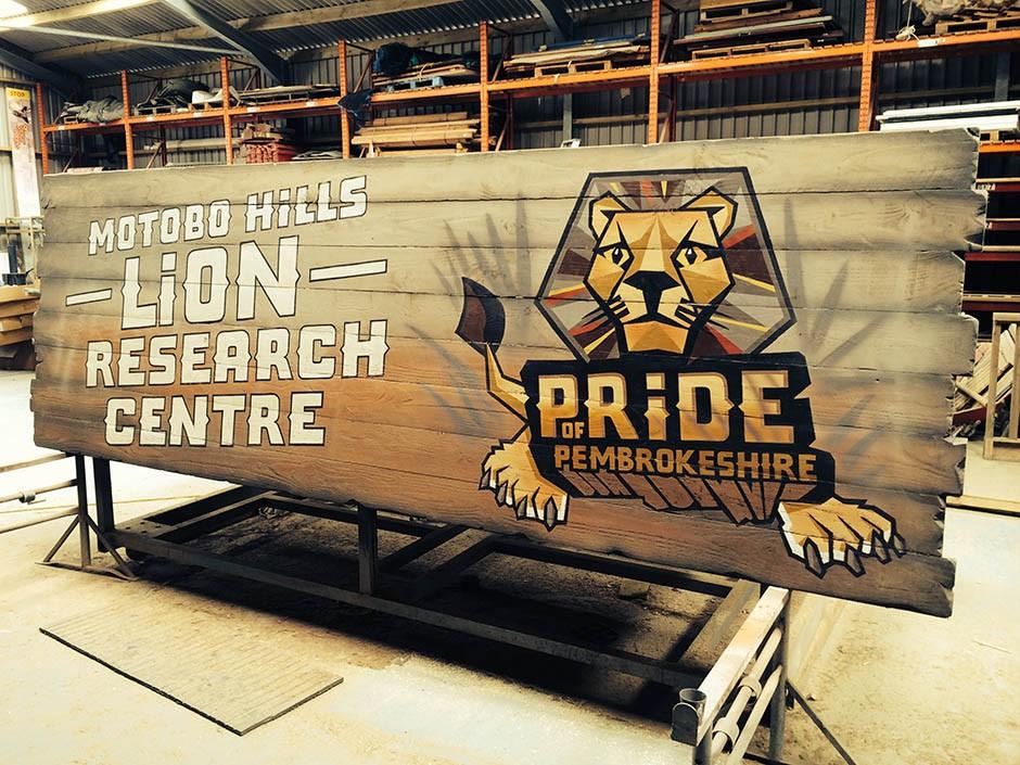 Lion Research Centre Sign