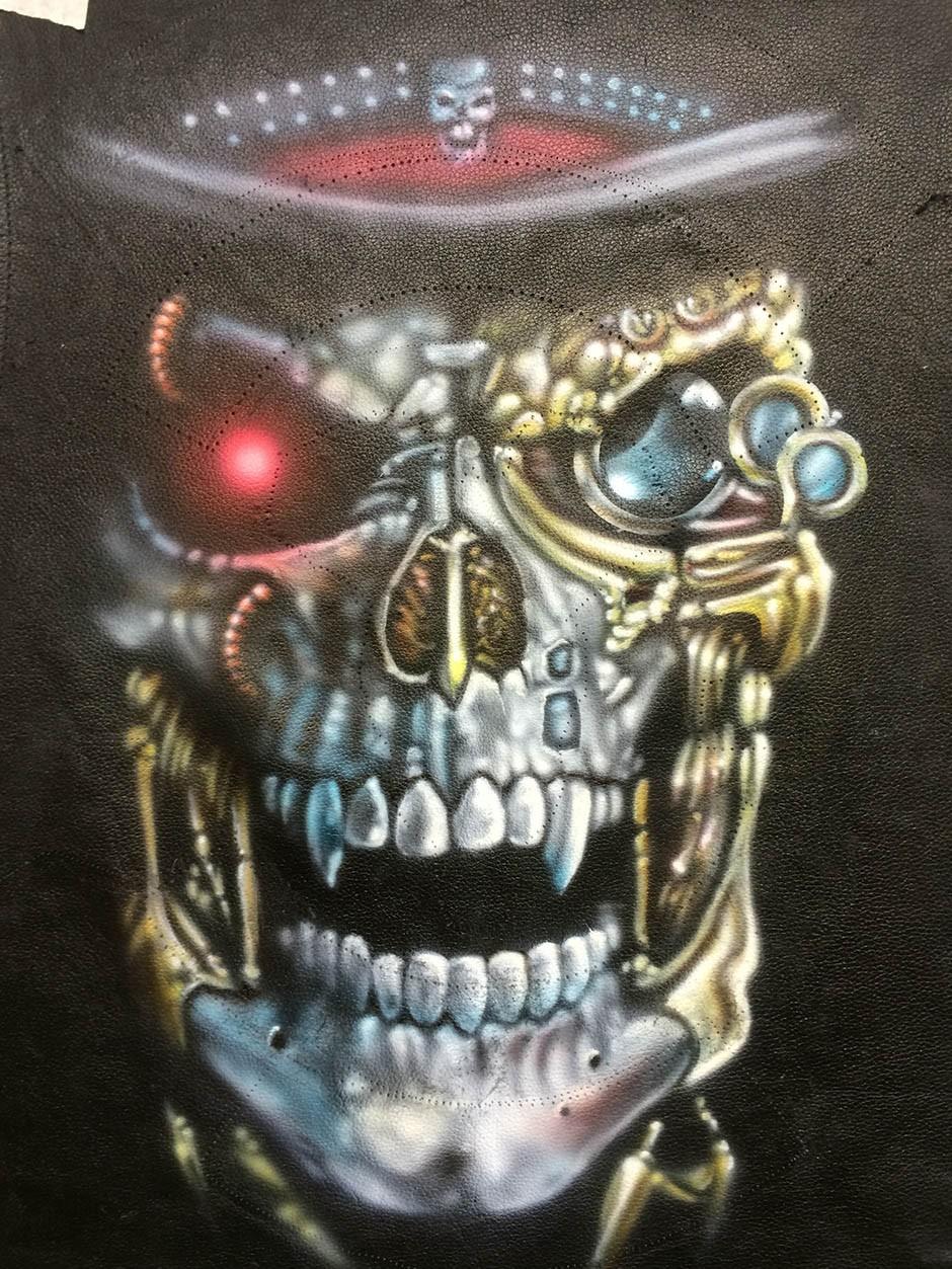 Biker Styled Skull