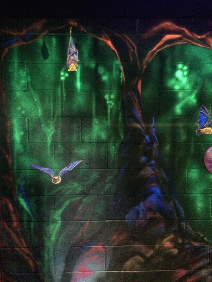 Bats in UV Mural