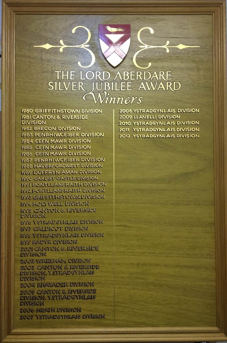Silver Jubilee Award Winners