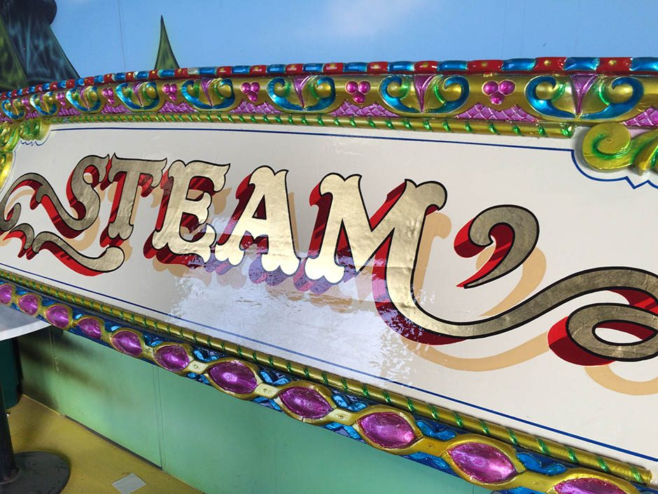Steam –  A Fairground Sign