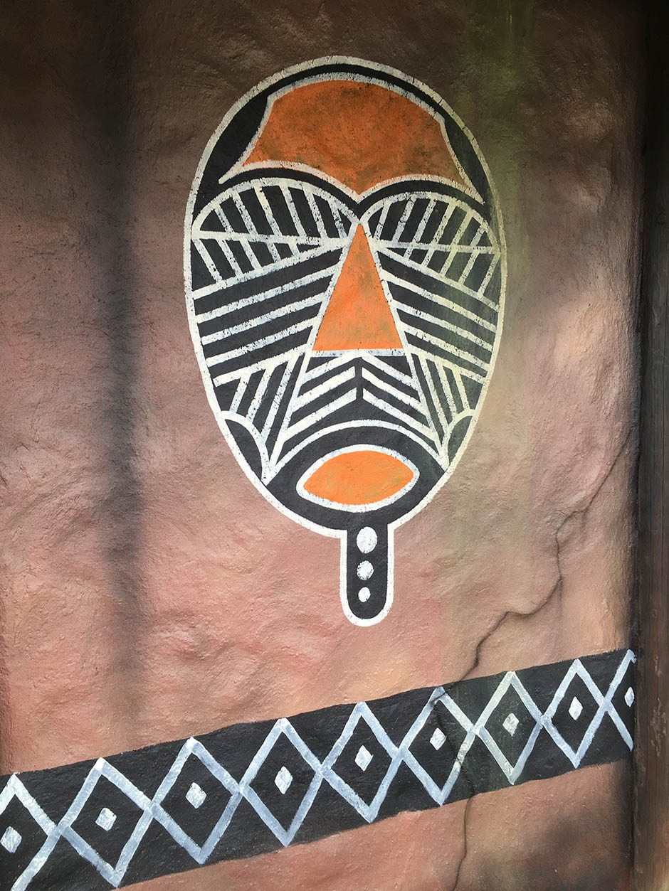 Wall Painting of African Mask