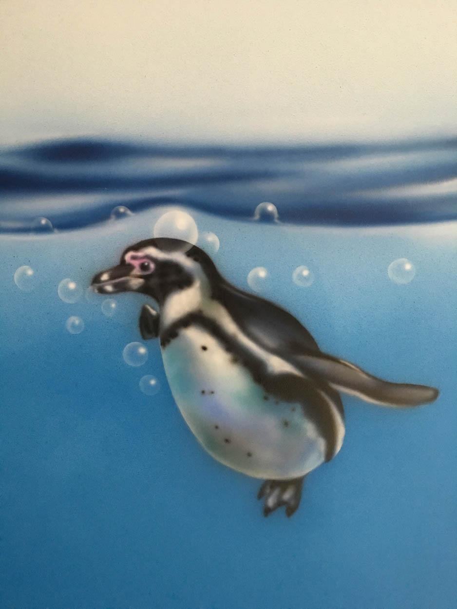 Penguin and Bubbles
