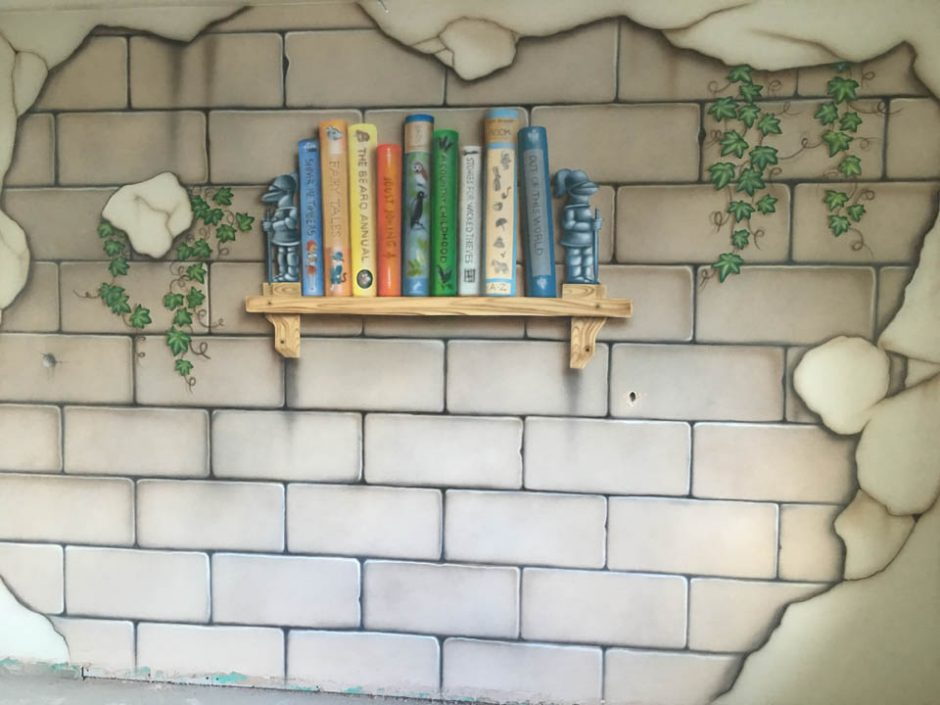 Stone Wall with a Shelf