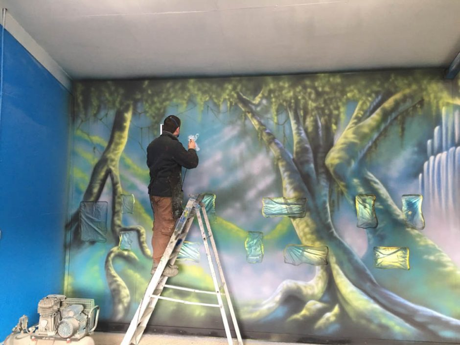 Mural in the Making