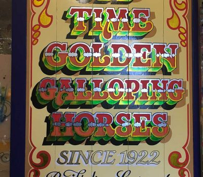 Old Time Galloping Horses