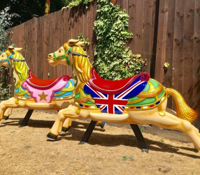 Dobby Horses with Flags