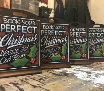 Christmas Table Top Chalkboards