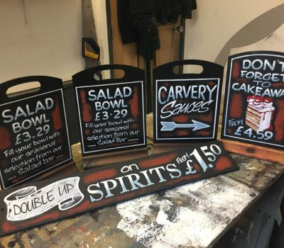 Salad, Carvery and Cake Chalkboards