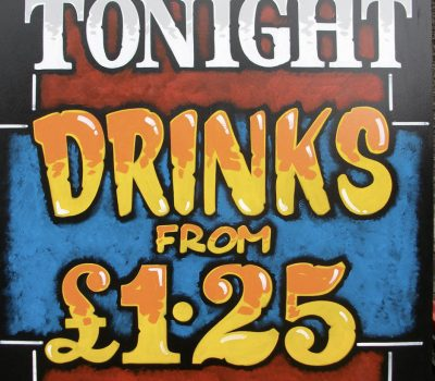 Tonight Drinks £1.25