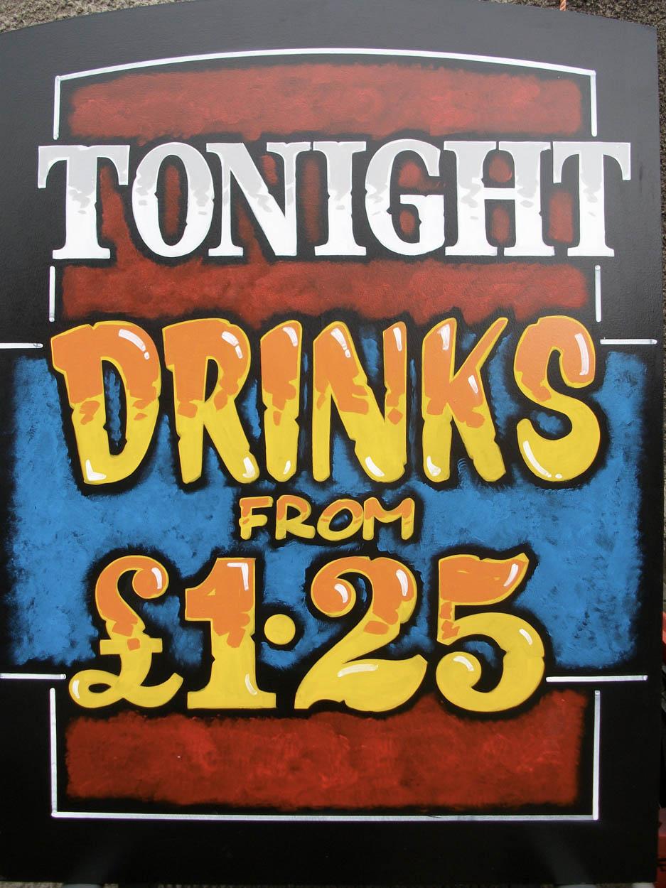 Tonight Drinks £1.25