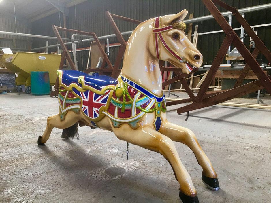 Fairground Horse for Folly Farm