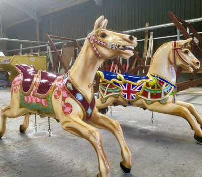 Two Restored Gallopers for Folly Farm