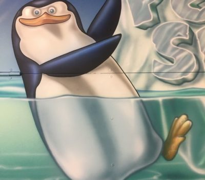 Penguin Left of Mural